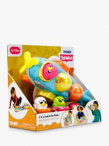 TOMY Toomies Hide and Squeak 2 in 1 Load and Go Plane