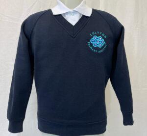 Colyton Primary Academy Embroidered V-Neck Sweatshirt