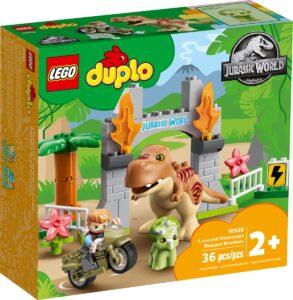 LEGO 10939 T.REX & TRICERATOPS DINOSAUR BREAKOUT