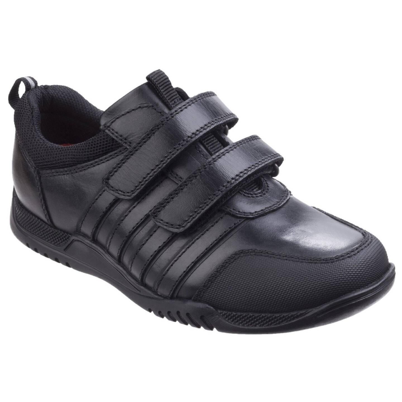 Hush Puppies Josh Boys Shoe BLACK/6 (L)
